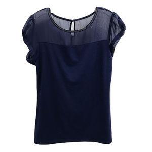 Express Blue Embellished Blouse